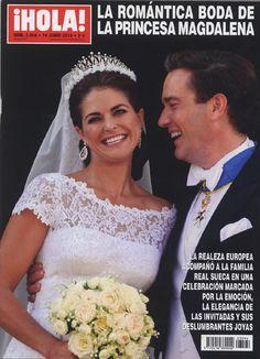 Capa da revista ¡HOLA! do Casamento da Princesa Madeleine da Suécia e Chris O'Neill.