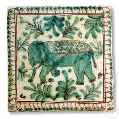 """Sicilian Tile """"Elephant"""" 1, Handmade Italian Tile – thatsArte.com"""