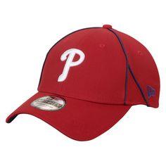 Philadelphia Phillies New Era Dynamo Stretch Fit Flex Hat - Red