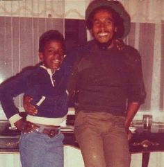 Bob Marley and Jonnie Gorgeous when he went to the UN to get his peace award in NY