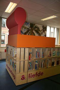 leesbed (vb Babel/bibliotheek Hoorn,  Architect Liesbeth van Apeldoorn van TPAHG) mag niet ontbreken
