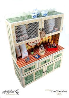 A stunning handmade Hutch and mini album from Jim, The Gentleman Crafter, using Home Sweet Home! Look for this collection in stores in mid-February #graphic45
