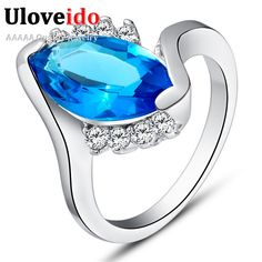 Find More Rings Information about Fashion Jewelery Silver Ring Purple Blue Red CZ Gemstone Rings Women Anillos de Compromiso Anelli Donna  Ulove J406,High Quality ring,China ring big Suppliers, Cheap ring turtle from Ulovestore Jewelry on Aliexpress.com
