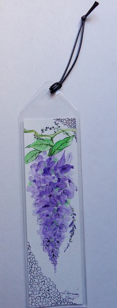 Check out this item in my Etsy shop https://www.etsy.com/listing/258375931/original-watercolor-bookmark-wisteria