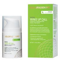 """Wake Up Call* – This """"overnight miracle"""" redefines skin with strong skin  rejuvenating and firming ingredients such as CoQ10, DMAE, alpha lipoic  acid, retinol and organic red tea to renew, firm and plump skin. Avocado  oil, grape seed oil and vitamin E provide robust hydration and lets skin  wake up refreshed and luminous."""