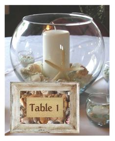Beach Wedding Centerpiece Kit by CreativeWindow on Etsy, $44.95