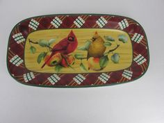 Lenox Winter Greetings Everyday Tartan Hors D'Oeuvre Tray By Catherine Mc Clung #Lenox