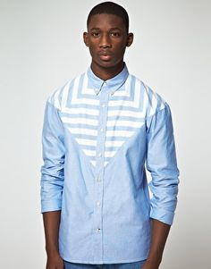 Enlarge Paul Smith Jeans Classic Fit Contrast Stripe Shirt