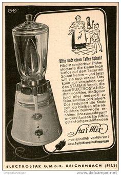 Original-Werbung/ Anzeige 1950 - STARMIX / ELECTROSTAR REICHENBACH WÜRTTEMBERG - ca. 65 x 100 mm
