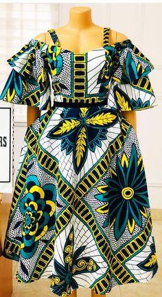 African Dresses For Kids, African Wear Dresses, Latest African Fashion Dresses, African Attire, African Inspired Clothing, African Print Clothing, African Print Dress Designs, Kitenge, Fashion Women