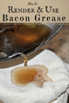 How to render and use bacon grease. Saving bacon grease has many benefits other than cooking. Learn how to store and use bacon grease. Cooking Classes, Cooking Tips, Cooking Recipes, Cooking Bacon, Cooking Games, Cooking Pasta, Cooking School, Cooking Utensils, Easy Cooking