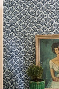 More Farrow & Ball Japanese-inspired wallpaper. Farrow Ball, Fabric Wallpaper, Of Wallpaper, Waves Wallpaper, Chinoiserie Wallpaper, Kitchen Wallpaper, Stormy Waters, Inspirational Wallpapers, Wall Treatments