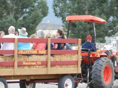 Weekly hay rides are fun for all Jellystone of the Gunnison Montrose Colorado