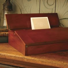 campaign lap desk from Thos. Baker