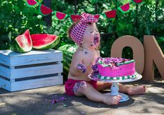 Watermelon first birthday theme. #firstbirthday #birthdays #watermelon #cakesmash @teenyfaith