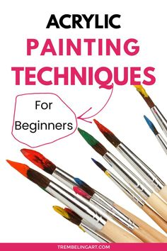 Mastering new acrylic painting techniques opens the door to a varied portfolio of artwork. Learn how to use your paint brushes and other painting tools to develop different painting techniques… Basic Painting, Canvas Painting Tutorials, Acrylic Painting For Beginners, Acrylic Painting Techniques, Beginner Painting, Painting Videos, Acrylic Painting Canvas, Diy Painting, Acrylic Art