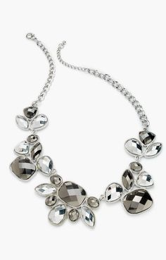 Style&co. Necklace, Silver-Tone Hematite Stone Statement Necklace #sponsored