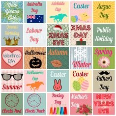 Free Printable Planner/Diary Stickers {Australian Occasions,Holidays & Observances}
