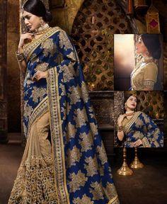 #hey @a1designerwear . Item code: APRM5437 . Buy Beauteous Navy Blue & Beige Silk #Saree #onlineshopping with #worldwideshipping at  https://www.a1designerwear.com/beauteous-navy-blue-beige-silk-sarees   . #a1designerwear #a1designerwear . #instashop #worldwide #thankyou