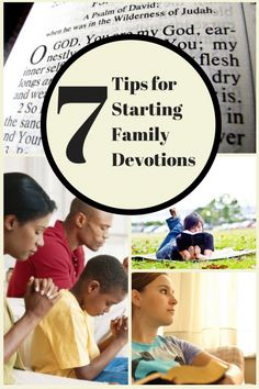7 Tips for Starting a Family Devotion Time or Family Bible Study Time Family Bible Study, Bible Study For Kids, Kids Bible, Family Prayer, Christian Families, Christian Life, Christian Living, Soli Deo Gloria, Marriage And Family