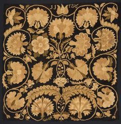 Bed Rug, ca. 1796, wool and linen, Connecticut
