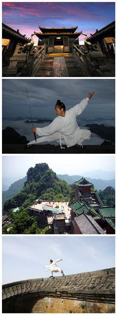 Wudang mountain in Hubei,China