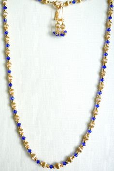 "Gold and Blue 22"" - $30"
