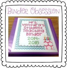 My Silly Firsties: Student Teacher Binder. Great gift for new student teachers…