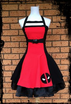 Deadpool Inspired Cosplay Dress Size Large Ready by annaladymoon