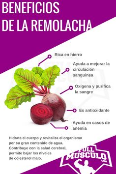 infografia Beneficios y propiedades de la remolacha