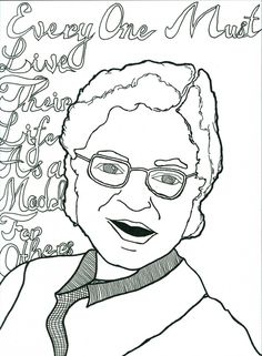 Free printable Rosa Parks coloring sheet is one of many Black ...