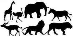 Silhouettes des animaux Image vectorielle libre