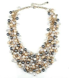Meiysh Fashion Layered Faux Pearl Multi Strands Bubble Collar Choker Bib Necklace for Women(champagne) * Sincerely hope you actually enjoy the image. (This is our affiliate link) Name Necklace, Initial Necklace, Pearl Necklace, Beaded Necklace, Pendant Necklace, Necklaces With Meaning, Girls Necklaces, Chain Necklaces, Statement Necklaces
