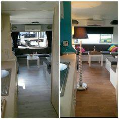 Diy pimp my caravan.  Onze stacaravan. Before and after...
