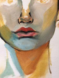 In progress, detail woman face