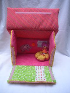 Lalaloopsy fabric doll house-Peanut Big Top inspired for mini lalaloopsy dolls//Made To Order. $34.00, via Etsy.