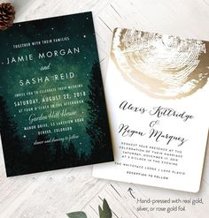 Get inspired by romantic forest wedding invitations designs from our Minted's collection of wedding stationery and decor. Customizable by you on Minted.com