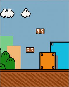 Original Super Mario Background by PlentyOfGraphPattern on Etsy