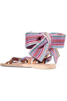 Brother Vellies - Zanzibar Woven Canvas Sandals - Beige - US10