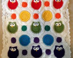Rainbow Owl Obsession Baby Blanket