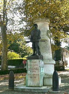 Monument aux morts de 14-18 – Habas. Aquitaine
