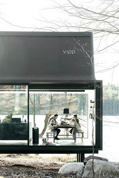 Container House - dining room de la maison Vipp livrée en Kit - Who Else Wants Simple Step-By-Step Plans To Design And Build A Container Home From Scratch? Architecture Durable, Interior Architecture, Image Deco, Casas Containers, Building A Container Home, Shipping Container Homes, Modular Homes, Modern Buildings, Glass House