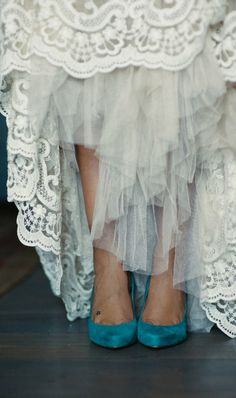 ruffles and something blue shoes