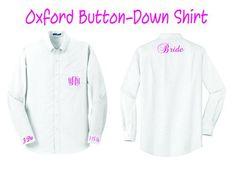 Mongrammed Wedding Party / Bride buttondown Oxford