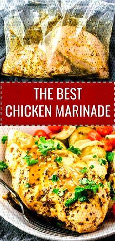 #mediterranean #ingredients #marinating #inspired #tomatoes #crockpot #marinate #... Italian Chicken Breast, Italian Baked Chicken, Best Chicken Marinade, Chicken Marinades, Food Crafts, Tomatoes, Crockpot, Inspired, Ethnic Recipes