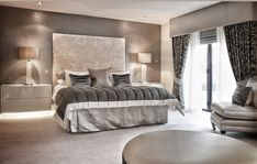 Gorgeous grey monochromatic bedroom decor in modern style. Trendy Bedroom, Luxurious Bedrooms, Country Bedroom Decor, Chic Bedroom, Luxury Bedroom Furniture, Chic Bedroom Design, Interior Design Bedroom, French Country Decorating Bedroom, Bedroom Decor
