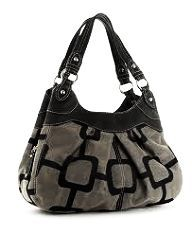 Salt and Pepper Speckled Cowhide Leather Hobo Bag by by stacyleigh $250.00