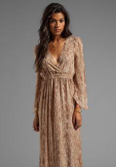 164ee18a4bd Love Shack Fancy Long Sleeve Maxi Dress in Tan Watersnake - New Modest  Dresses