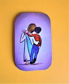 Scripture Doodle Magnet of Encouragement/Jesus Carrying Boy/Christian Magnet/Doodle Art Magnet/Inspirational Magnet/Christian Gift/