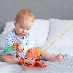 Cute Octopus, Highchair Cover, Bath Toys, Cartoon Design, Big Eyes, Toddler Toys, Motor Skills, Future Baby, Easy Drawings